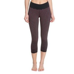 Lucy Hatha Collection black and striped leggings